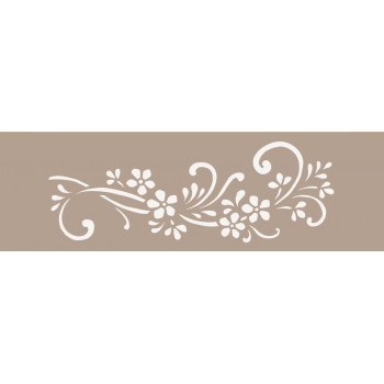 Vendita online stencil to do 15x40 cm flower motif for Plantillas para decorar muebles